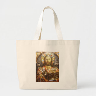 Lord Jesus Christ Orthodox Icon Canvas Bag
