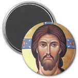 Lord Jesus Christ Son of God 3 Inch Round Magnet