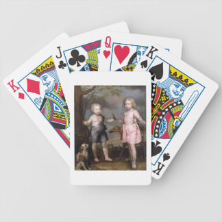 Lord John Hay and Charles Master of Yester later Bicycle Poker Deck