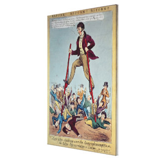 Lord John Stalking over the Boroughmongers Canvas Print