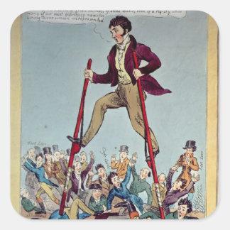 Lord John Stalking over the Boroughmongers Square Sticker