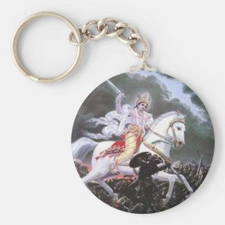 lord kalki basic round button keychain