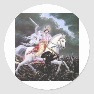 lord kalki classic round sticker
