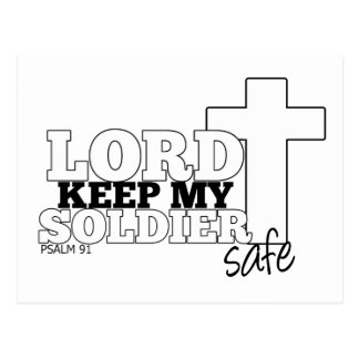 Lord keep my Soldier safe Postcard