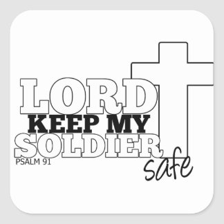 Lord Keep My Soldier Safe Stickers