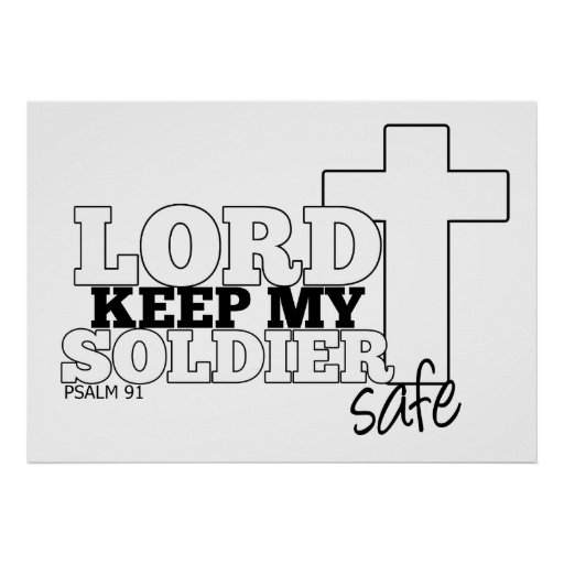 Lord Keep my Soldier Safe Wall Print