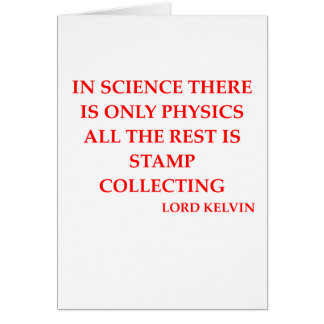 lord kelvin quote greeting card