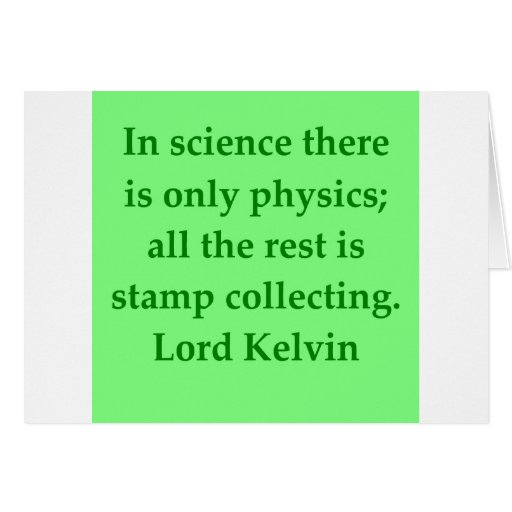 Lord Kelvin quote Greeting Cards