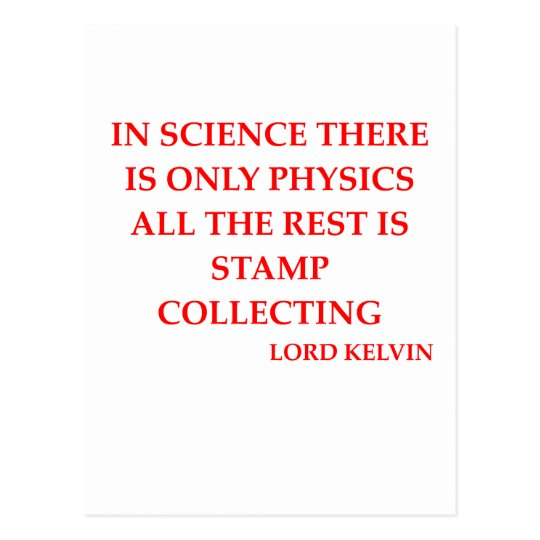 lord kelvin quote postcard