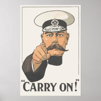 Lord Kitchener Vintage World  War 1 Poster Print