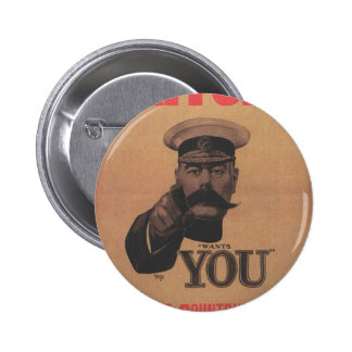 Lord Kitchener Wants You Button Badge