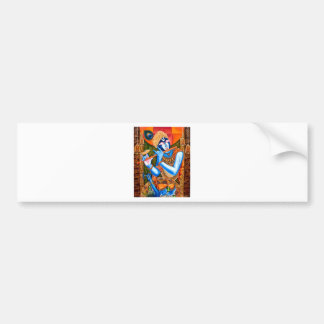 LORD KRISHNA INDIAN ABSTRACT BUMPER STICKER