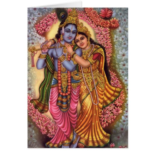 Lord Krishna & Radha Greeting Cards