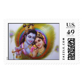 Lord Krishna & Radha Stamp