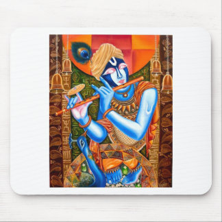 LORD KRISHNA WITH THE FLUTE ABSTRACT MOUSE PAD