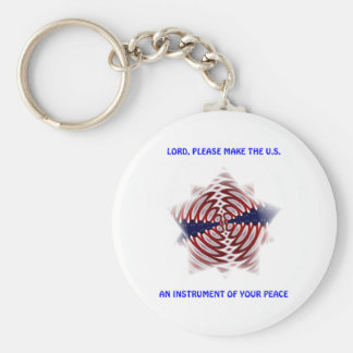 Lord...Make the U.S. an Instrument of Your Peace Basic Round Button Keychain