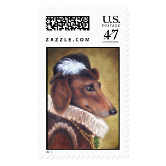 Lord Max- Dachshund Dog Stamp