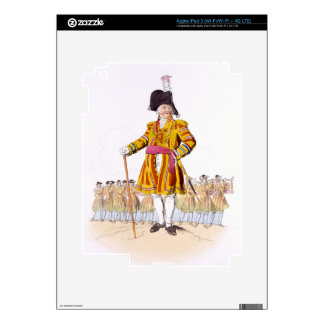 Lord Mayor, from 'Costume of Great Britain', publi iPad 3 Decal