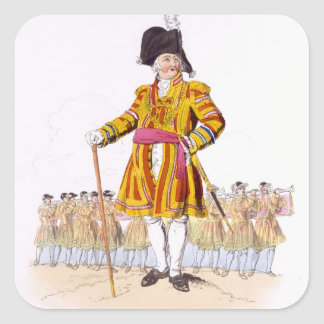 Lord Mayor, from 'Costume of Great Britain', publi Square Sticker