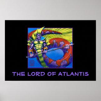 Lord of Atlantis on black print