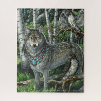 Lord of Falcons Gray Wolf Puzzle