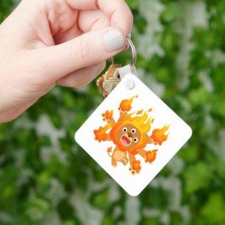 Lord of Fire!! (cute cartoon lion) Keychain keychain