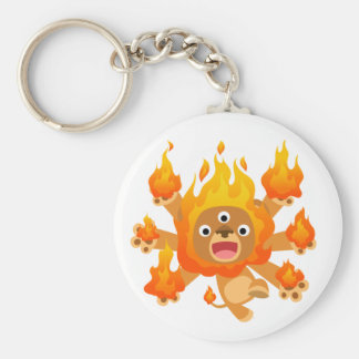Lord of Fire!! (cute cartoon lion)  Keychain