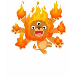 Lord of Fire!! (cute cartoon lion) Kids T-Shirt shirt