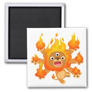 Lord of Fire!! (cute cartoon lion) Magnet magnet