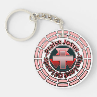 Lord Of Lords Christian Round Key Chain