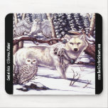 Lord of Owls Mousepad Winter Wolf