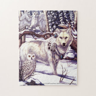 Lord of Owls White Wolf Winter Puzzle