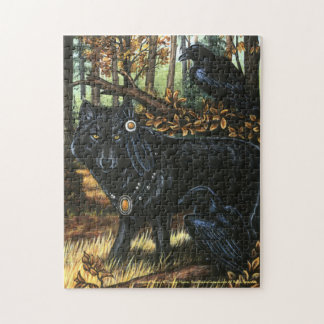 Lord of Ravens Black Wolf Puzzle