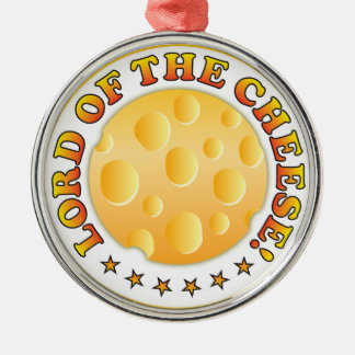 Lord Of The Cheese Silver-Colored Round Decoration