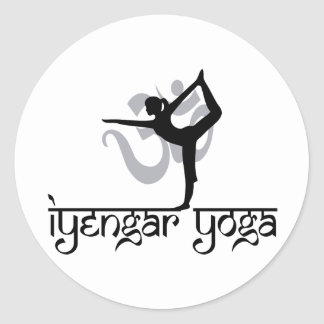 Lord of The Dance Pose Iyengar Yoga Classic Round Sticker