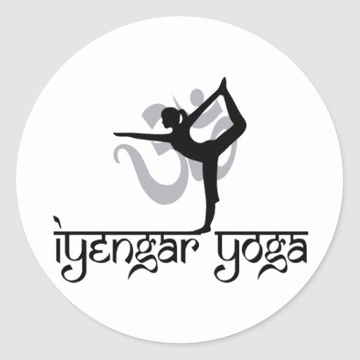 Lord of The Dance Pose Iyengar Yoga Round Sticker