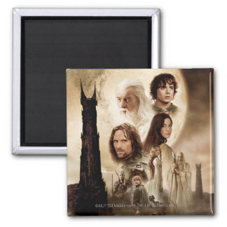 Lord of the Rings: The Two Towers Movie Poster 2 Inch Square Magnet