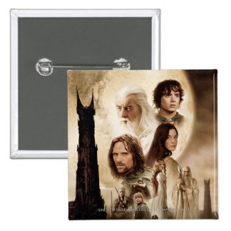 Lord of the Rings: The Two Towers Movie Poster Pinback Button