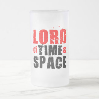 Lord of Time and Space 16 Oz Frosted Glass Beer Mug