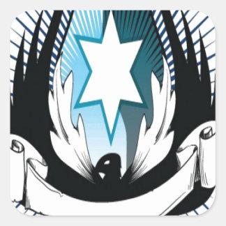 Lord phoenix heraldry design square sticker