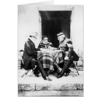 Lord Raglan,Omar Pasha & General Pelissier, Greeting Card