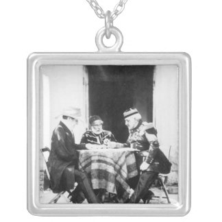 Lord Raglan,Omar Pasha & General Pelissier, Silver Plated Necklace
