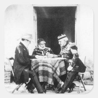 Lord Raglan,Omar Pasha & General Pelissier, Square Sticker