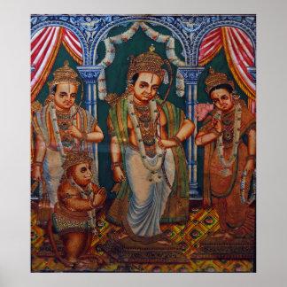 Lord Rama, Sita, lakshmanna, Hunuman.DSC_7577 Posters