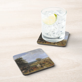 Lord River's Horse Farm oil on canvas Coaster