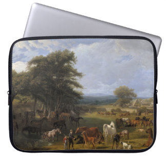 Lord River's Horse Farm oil on canvas Computer Sleeves