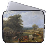 Lord River's Horse Farm oil on canvas Laptop Computer Sleeves