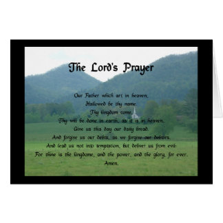 Lord s Prayer at Wolf Fork Valley Greeting Card