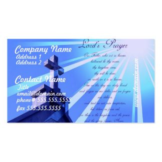 Lord s Prayer Design Business Cards