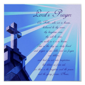 Lord s Prayer Design Poster
